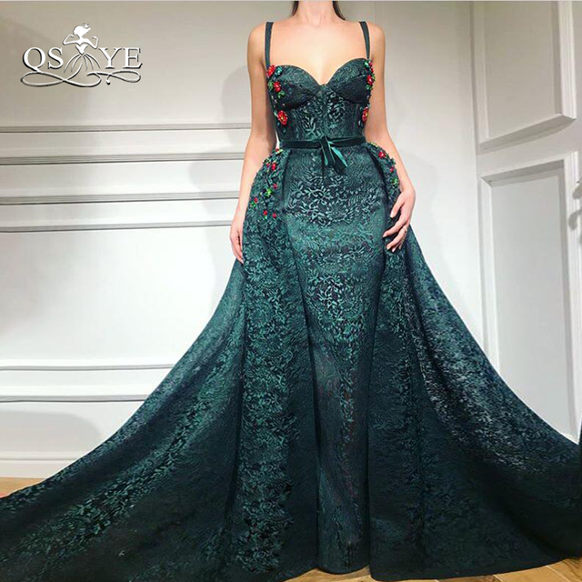 QSYYE 2018 New Arrival Long Mermaid Prom Dresses Vintage Arabic Formal  Evening Dress Sweetheart Beaded Lace Long Party Gown acc025a7d3db
