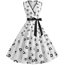 Women Robe Retro Vintage Dress 50s 60s Rockabilly Dot Swing Pin Up Summer Party Dresses Elegant Tunic Vestidos Casual цена 2017