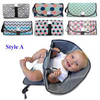 2 Styles Portable Diaper Changing Pad Clutch with Barrier Foldable Clean Hands Changing Station Soft Flexible Travel Mat