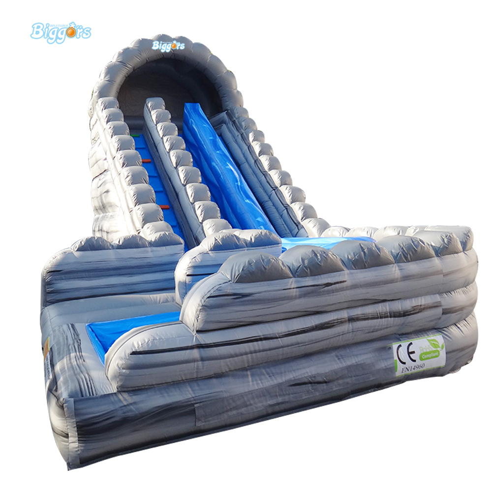 Free Sea Shipping Commercial Large Inflatable Wave Water Slide with Pool for Kids and Adults children shark blue inflatable water slide with blower for pool