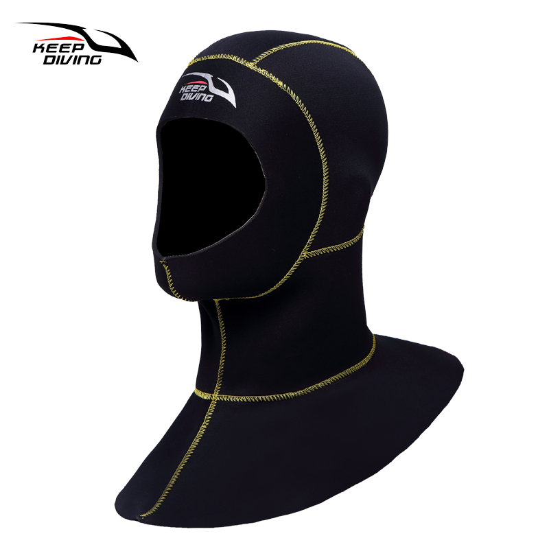 Brand 3mm Neoprene Scuba diving cap Equipment With shoulder Snorkeling Hat hood Neck cover Winter swim Warm Wetsuit Protect hair diving equipment