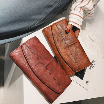 Trifold Long PU Leather Clutch 2