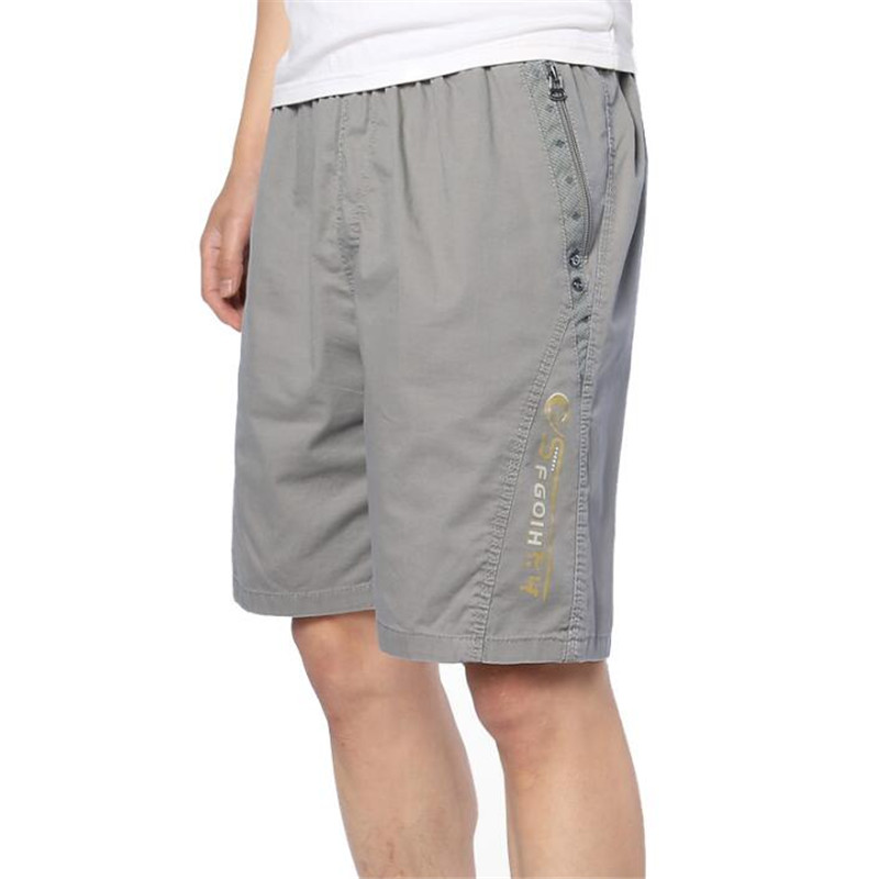 Plus Size Shorts Summer Pocket Zipper Crotch Men Short Casual Loose Knee Length Male Cargo Beach Multi Color A5455