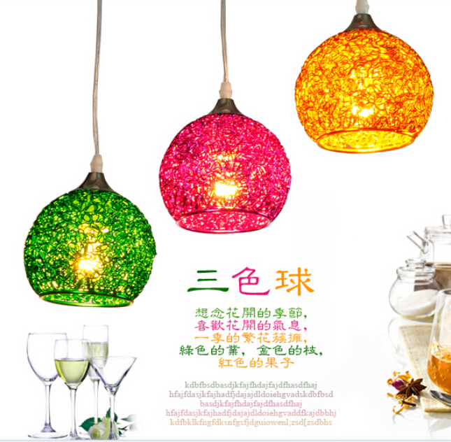 ₩Pastoral acogedor restaurante luces araña moda creativa comedor ...