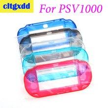 Cltgxdd étui rigide en plastique coque en cristal housse de protection coque protecteur de peau poignée étui pour Sony PSVita PSV1000 Game machin