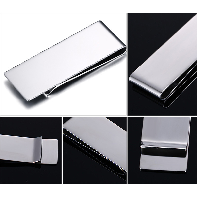 Titanium Stainless Steel Money Clip Metal Business Card Credit Card ...