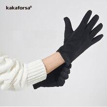 Kakaforsa Men Touch Screen Warm Gloves Solid Thicken Mittens Fashion Man Full Finger Winter Gloves Winter Nylon Mittens New