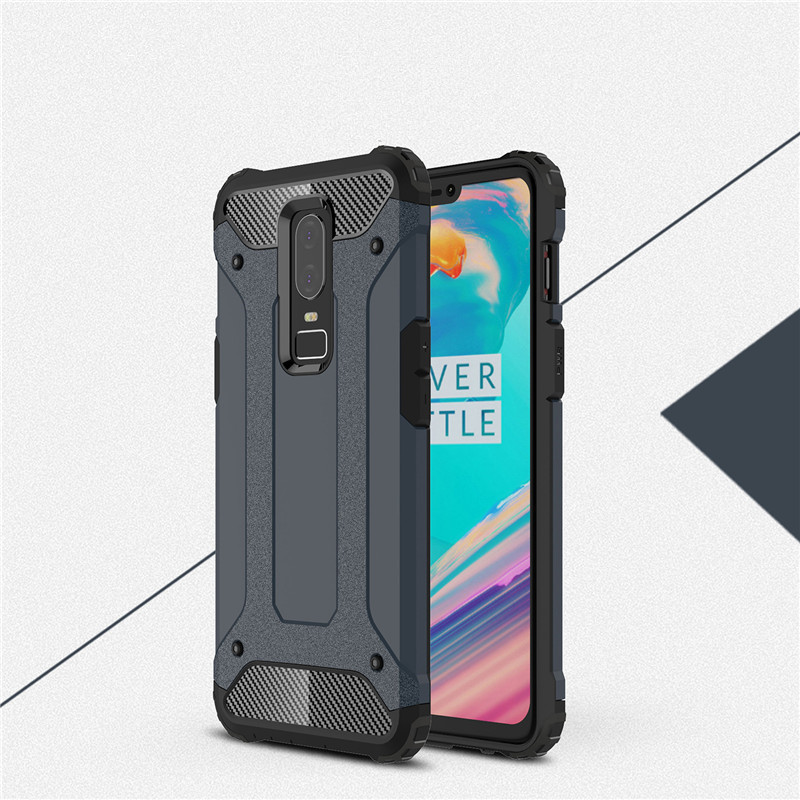 Oneplus 6 1+6 Case 6.28 Shockproof Rugged Armor Hybrid Case for One Plus 6 Six A6000 Cover Anti-Knock Protection Back Case