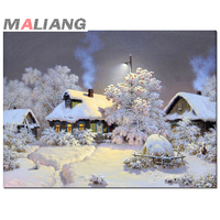 Full Diamond Embroidery Landscape 5d Diamond Painting Crystal Cross Stitch Diy Diamond Mosaic Snow Scenery