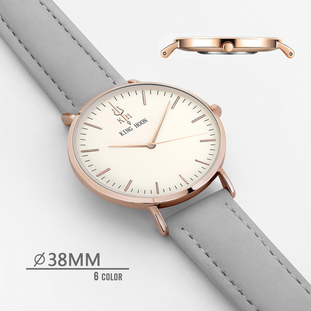 Analog Casual Elegant Leather Strap Watch 2
