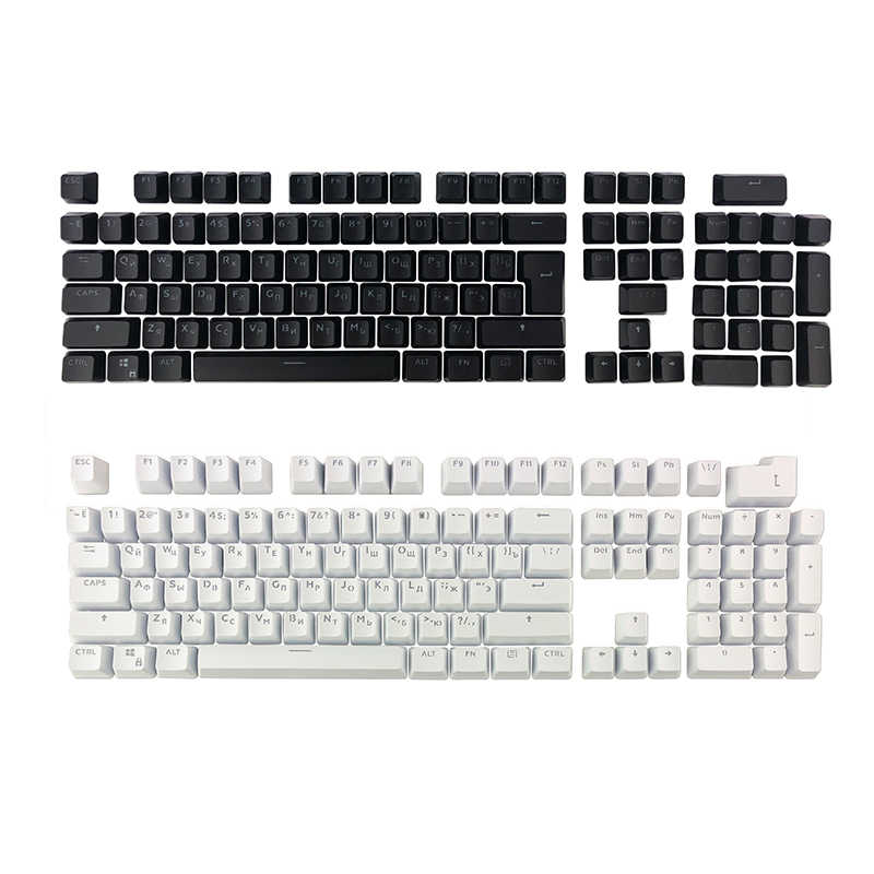 cd14b84027b ... Russian Keycaps for Mechanical Keyboard Compatible with MX Switches DIY  Replacement Transparent Support Led Lighting Keycaps