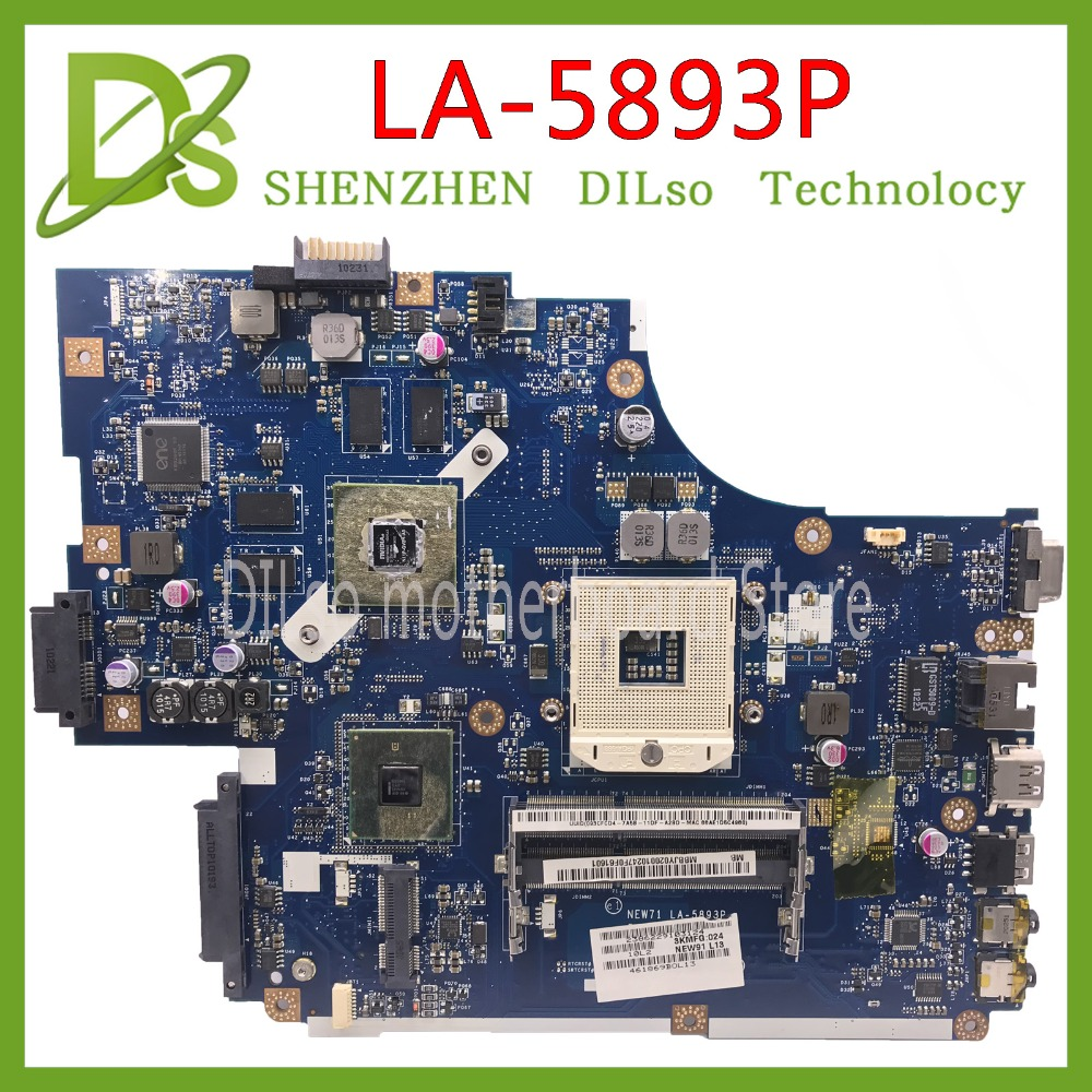 KEFU LA-5893P Motherboard For Acer 5740 5741 5742 5741G 5742GLA-5891P LA-5894P LA-5893P Motherboard Test Work 100% Original