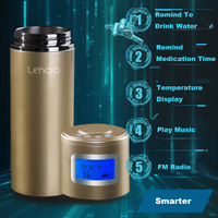 Smarter Health LCD Mini Speakers Radio Thermos Bottles Insulation Mug Vacuum Flask Tumbler Cup Double Wall Stainless Steel New