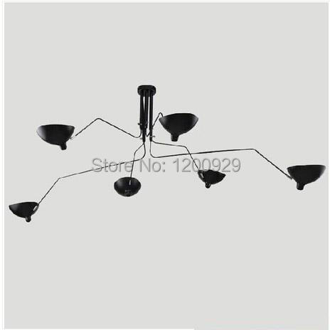 Serge Mouille Lamp Modern Creative Iron Serge Mouille Lamps Living Room Lamps Ceiling /Floor/Wall/Table Lamps  PLL-624