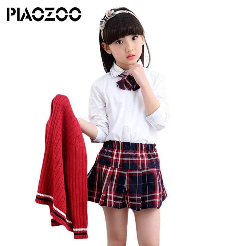 Обратно в школу наряд малыша на осень-зиму костюм униформа Одежда для маленьких мальчиков платье для девочек Вязание SweaterSuit комплекты из 3 п...