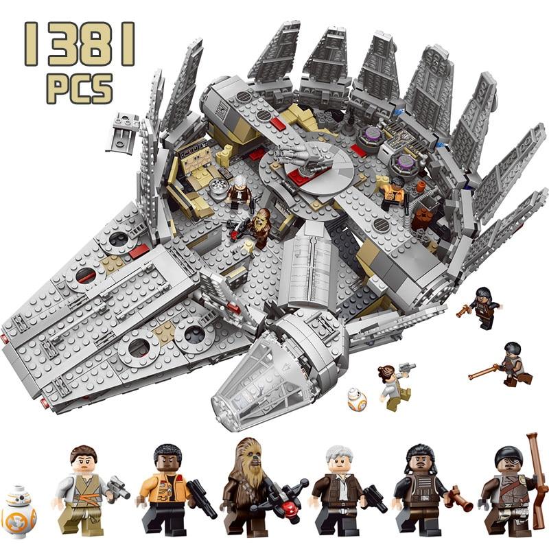 En étoiles Wars The Force Éveille Compatible LegoINGLYS 75105 Millennium Falcon Chiffres Modèle Blocs de Construction 79211 Jouets Pour Garçons