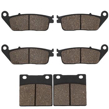 Cyleto Motorcycle Front and Rear Brake Pads for Suzuki GSX 400 94-96 GSF650 GSF 650 Bandit 95-99 RF400 & RF 600 RF600 R 93-97 image