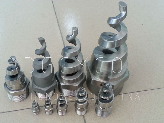 Quot ss l industrial spray spiral water jet nozzle