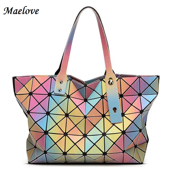Maelove Rainbow Bag 2017 New Fashion Style Women bao bao bags Geometric Tote Fol