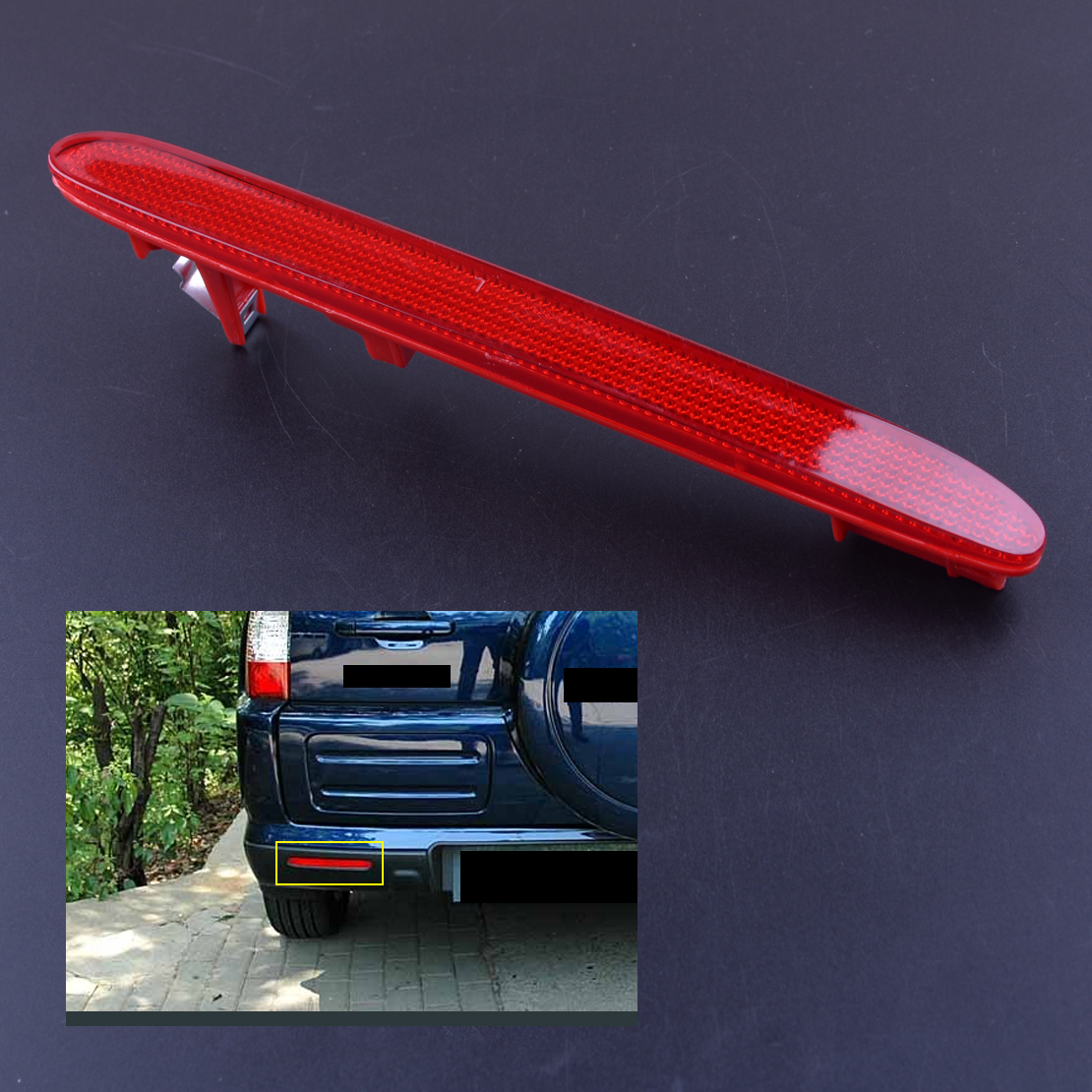 CITALL Rear Left Reflector Light Bumper Face Bar Tail Brake Parking Warning Lamp 33555-SEA-013 For Honda CRV Element Acura TSX