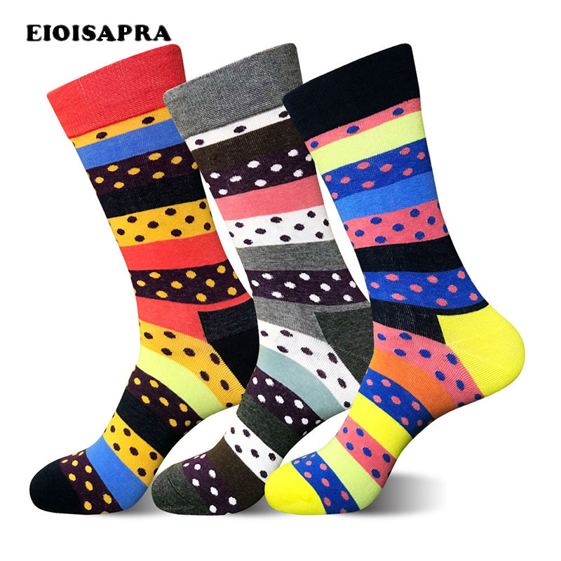 [EIOISAPRA]European/American Men Size Happy Socks Colorful High Quality Business Fashion Socks Odd Feature Calcetines Hombre Sox