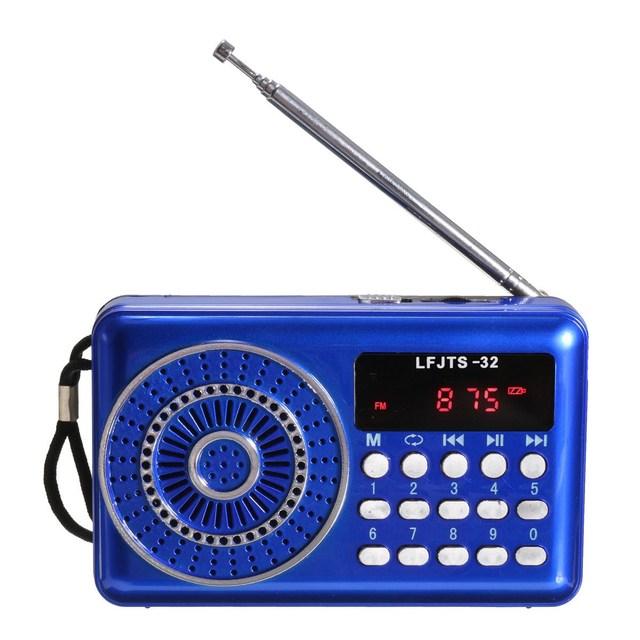 La mejor Calidad de LCD Digital Radio FM Altavoz Portátil USB Micro Tf Mp3 Reproductor de Música de Radio