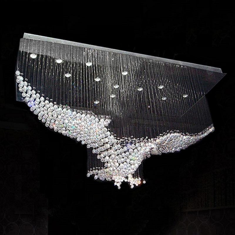 new eagles design luxury modern crystal chandelier light. Black Bedroom Furniture Sets. Home Design Ideas