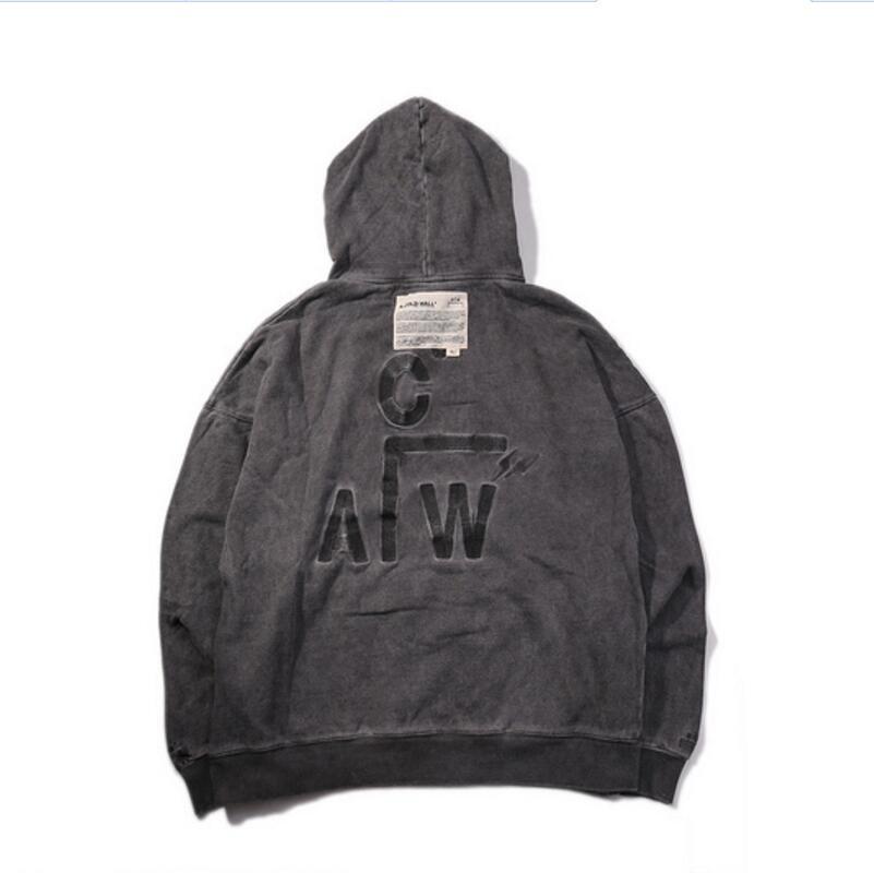 2018 Latest Japan Hip Hop A-COLD-WALL ACW Distress Embroidery Women Men Hoodies Sweatshirt Streetwear Cotton Hoodie Pullove