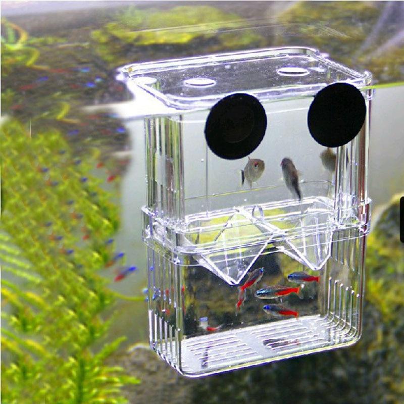 Fish Tank Aquarium Fish Breeding Isolation Box Baby Fish Incubator Breeder Hatch
