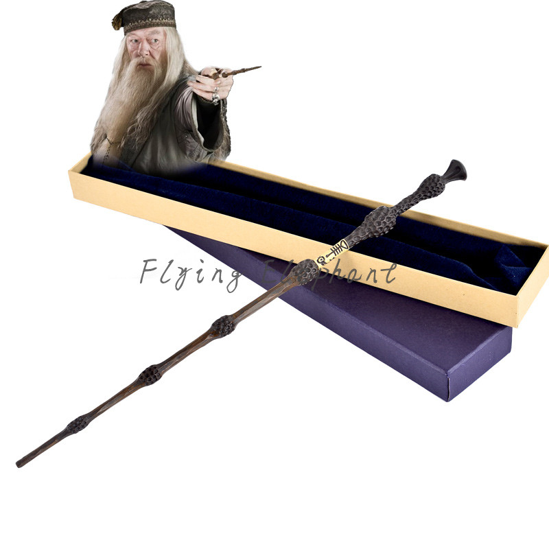 41cm Albus Dumbledore Magic Wand the Elder Wand For Harry Potter Metal Core Wands Cosplay Christmas Gift Fans Kids 2style cosplay albus dumbledore play magical magic wand gift in box metal core harry potter magical wand