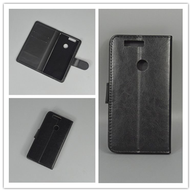 Crystal grain wallet case hold two Cards with 2 Card Holder and pouch slot for Huawei Honor 8