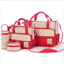 Fashion Women Travel Handbag 5pcs/set Large Diaper Bag Nappy bag for Baby Nursing Maternity Bag luiertas One Shoulder Baby Bag