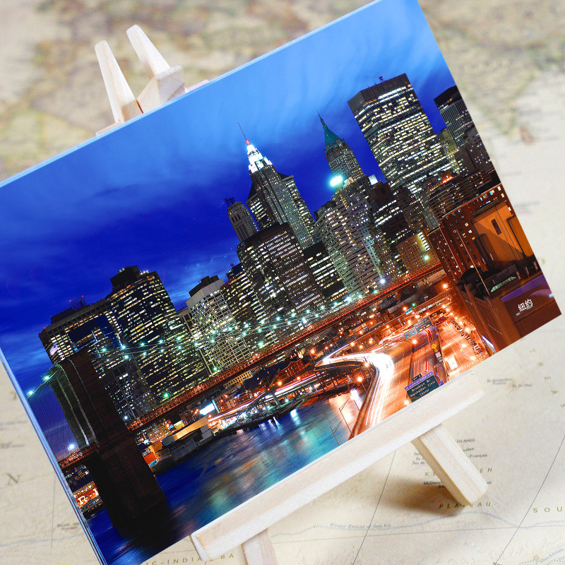 6 pcs in one, Postcard,Charm Tourist City, New York America USA,Christmas Postcards Greeting Birthday Message Cards 10.2x14.2cm image