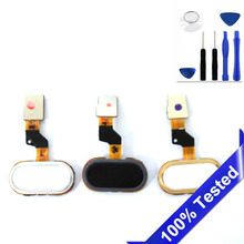 10PCS/ LOT Fingerprint For Meizu M3s Home Button Replacement For Meilan M3S Mini Cell Phone Home Key Free Tools
