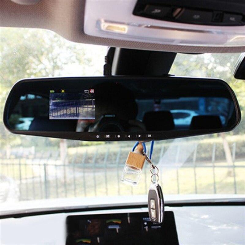 Nachtsicht Auto HD DVR Kamera Rückspiegel Digital Video Recorder Auto Camcorder Dash Cam Dual Objektiv Registratory Dropshippin