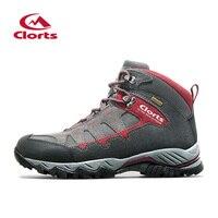 2015 Clorts Men Hiking Shoes New Arrival High Cut Uneebtex Waterproof Non Slip Trekking Shoes HKM