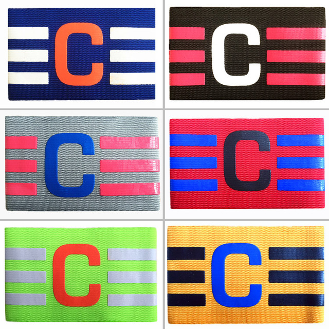 New Football Captain Armband Soccer Skippers Armbands Breathable Adjustable Elastic Captain Armband Elbow Exercise Match Supplie