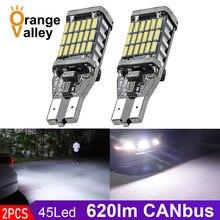 2 шт. супер яркий T15 W16W 921 45 SMD LED 4014 Авто Canbus обратный свет заднего хода освещение резервная лампа
