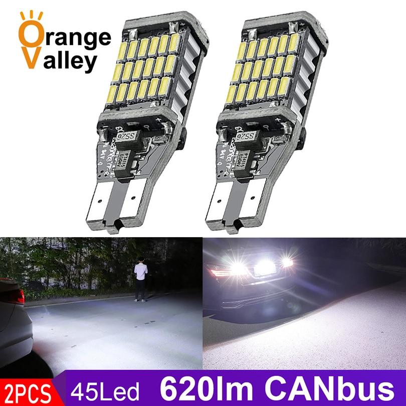 2PCS Super Bright T15 W16W 921 45 SMD LED 4014 Car Auto Canbus Reverse Light Reversing Innrech Market.com