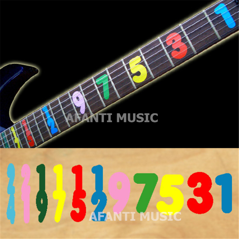 Afanti music High-grade guitar finger-board sticker / Shell decal / finger mark / numerical digit Inlay (FPD-113) inlay sticker decal guitar headstock diamond hatch gold white