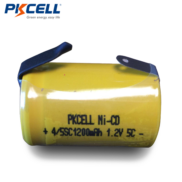 4PCS PKCELL 4/5sc 1.2v 1200mah nicd batteries 4/5 sub c NI-CD rechargeable batteries industry Flat Top With Tabs For Shaves