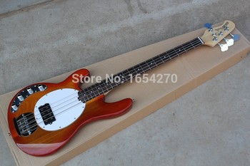 Free shipping hot MusicMan Sting Ray 4 Strings Active Pickup Left-handed Electric Bass Guitar In Stock .