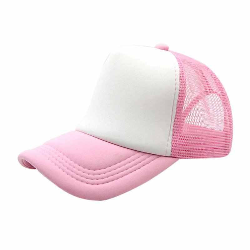 ... Vogue Adjustable Baseball Cap Trucker Hat Blank Curved Hat Mesh Plain  Color Cap ... c6e7c699bb52