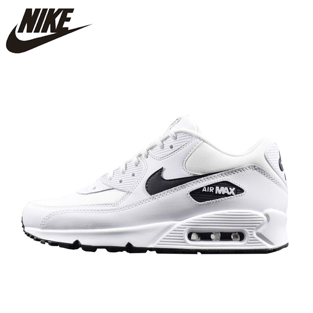 new style afed4 77c61 NIKE AIR MAX 90 ESSENTIAL Men Running Shoes Sneakers, White, Lightweight  325213-131