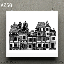 AZSG Magnificent building Clear Stamps/seal for DIY Scrapbooking/Card Making/Photo Album Decoration Supplies