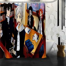 Custom Bungou Stray Dogs Shower Curtain 12 Hooks For The Bathroom High Quality Polyester Fabric Bath Curtain 3D Printing(China)