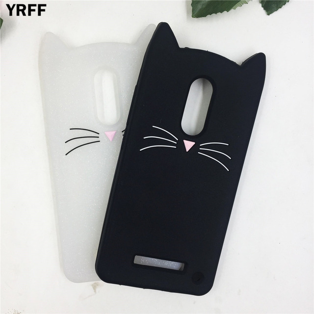 new product 808cb d0a81 US $2.59 30% OFF YRFF Cute 3D Cartoon beard cat silicon back cover phone  cases For xiaomi redmi note 3 4 case For xiaomi redmi note 4x -in Fitted ...
