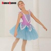 2018 Girls/Lady Professional Ballet Tutu Violet Ballet Clothes Children/Adult Performance Ballet Costumes Tutu Danse Classique