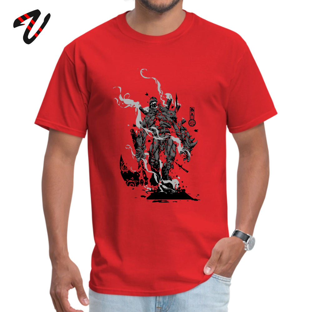 Crazy All Cotton T Shirts for Men Short Sleeve Design Tops T Shirt Brand Summer Crewneck Top T-shirts Design Wholesale The Game of Kings Wave Two The Black King Bish red