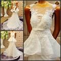 2017 new romantic cherry vestidos de novias white wedding dresses bride dress bridal gown a line wedding dresses